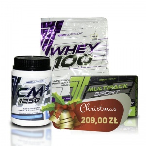 Zestaw Trec Whey 2000g + Trec Creatine 360caps + Trec Multpack Sport Day/Night 90caps