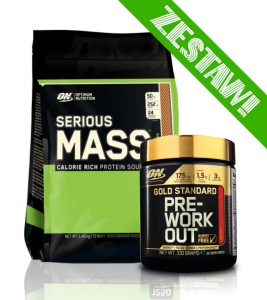 Zestaw Serious Mass 5455g + Gold Standard Pre-WorkOut 330g
