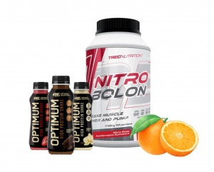 Zestaw Trec Nitrobolon 1100g + 3x Optimum Nutrition Protein Shake 330 ml