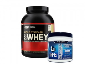 Zestaw Optimum Whey Gold Standard 2270g + Liftag Sport Ulift 390g