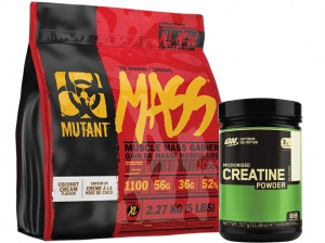 Zestaw  PVL Mutant Mass 2270g + Optimum Creatine 317g