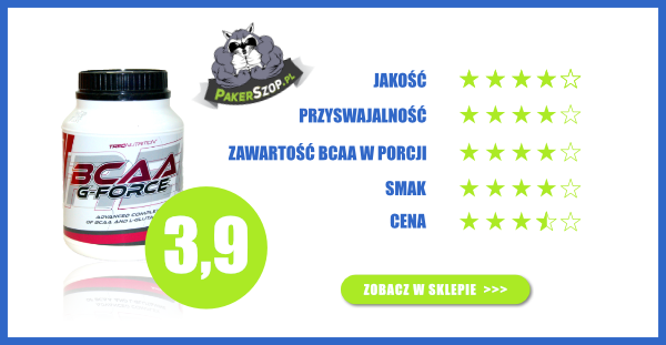 Ranking BCAA, Trec BCAA G-Force